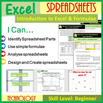 microsoft excel introduction to spreadsheets calculations lesson