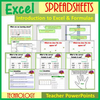Excel - Introduction to Spreadsheets & Calculations (ISTE 2016 Aligned)