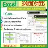 Microsoft Excel - Introduction to Spreadsheets & Calculations Lesson Plan