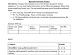 Microsoft Excel Project - Formulas