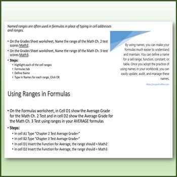 Microsoft Excel Skills - Defining Name Ranges