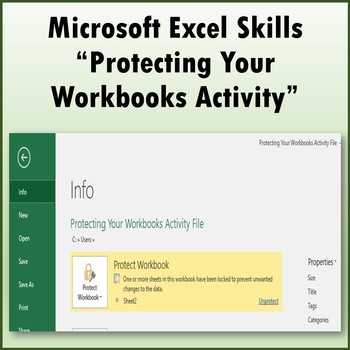 Protecting Your Workbooks Skills Activity for Microsoft Excel