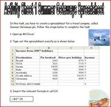 Microsoft Excel Spreadsheet Tasks Booklet