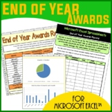 Microsoft Excel Spreadsheets - End of Year Awards