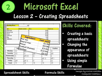 Excel Spreadsheets – Creating Spreadsheets (ISTE 2016 Aligned)