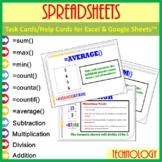 Task/Help Cards (Formula Practice) - for Google Sheets™ & Excel Spreadsheets
