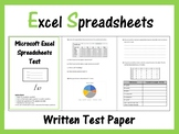 Microsoft Excel Spreadsheets - Paper Test