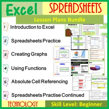 Excel Spreadsheets - The Entire First Lesson Plans Bundle