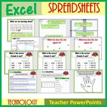 Microsoft Excel Spreadsheets - The Entire First Lesson Plans Bundle