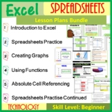 Microsoft Excel Spreadsheets: The Entire First Lesson Plans Bundle (2019 Update)