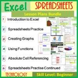 Microsoft Excel Spreadsheets Lesson Plans Bundle Distance