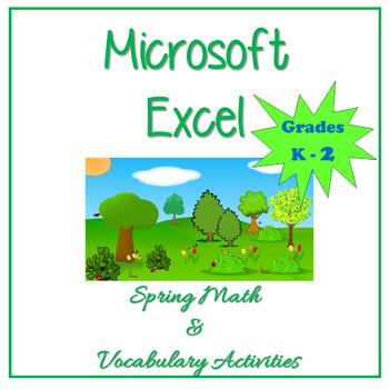 Microsoft Excel Spring Math & Vocabulary Activities