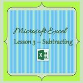 Microsoft Excel - Subtracting
