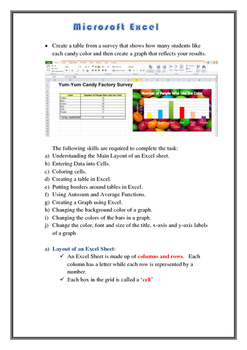 Microsoft Excel Tables and Graphs