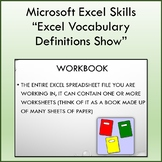 Vocabulary Definitions Slideshow for Teaching Microsoft Excel