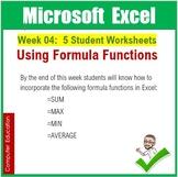 Microsoft Excel Spreadsheets : Week 04