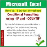 Microsoft Excel Spreadsheets : Week 05