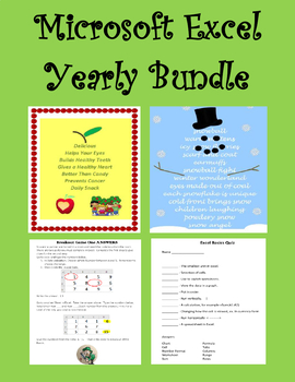 Microsoft Excel YEARLY Bundle