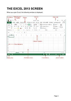 Microsoft Excel for Beginners Training Manual