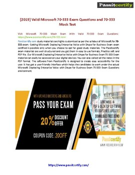 Microsoft MCSE 70-333 Exam Real Questions And Answers