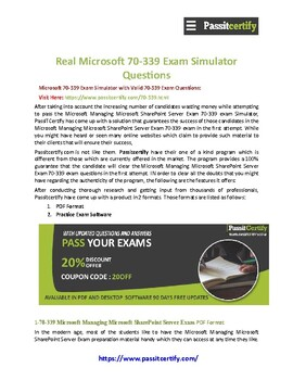 Microsoft MCSE 70-339 [2019] Exam Dumps Questions Recommendations