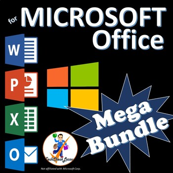 Microsoft Office 2016, 2013 Lesson Plan MegaBundle-Word PowerPoint Excel Outlook