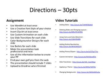 Microsoft Office Powerpoint Project #1
