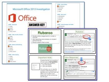 Microsoft Office 2013 Quiz / Investigation