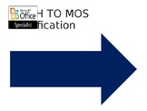 Microsoft Office Specialist - Certification Pathway Signage