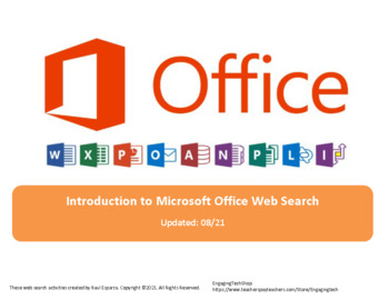 Microsoft Office Web Search for Teens - Fillable PDF