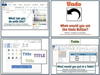 Microsoft Office Questions for Elementary Students