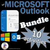 11 Activities for Teaching Microsoft Outlook 2016 & 2013 Skills BUNDLE