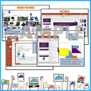 Microsoft POWERPOINT 2016 Elementary Lesson & Activities UPDATED