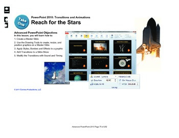 Microsoft PowerPoint 2010 Advanced: Animation (Reach for the Stars)