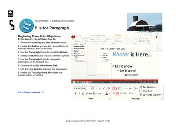 Microsoft PowerPoint 2010 Beginning: Textboxes (P is for P