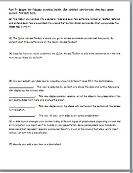 Microsoft PowerPoint 2010 Student Tests- 2 Tests Included