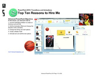 Microsoft PowerPoint 2010 Advanced: Top 10 Reasons to Hire Me