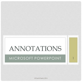 Microsoft PowerPoint Skills - Annotations Lesson