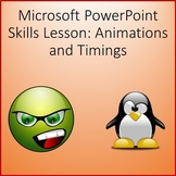 Animations Lesson Activity Activity for Teaching Microsoft PowerPoint Skills
