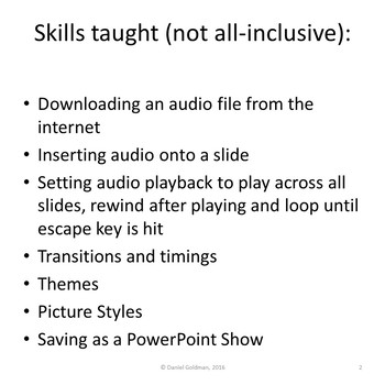 Microsoft PowerPoint Skills - Audio Playback Lesson