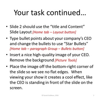 Microsoft PowerPoint Skills - Bullets and Slide Layouts