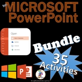 35 Activities for Microsoft PowerPoint 2016 & 2013 Skills Lesson Bundle