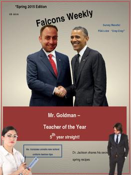 Microsoft PowerPoint 2013 Skills - Magazine Cover Lesson
