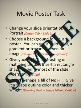 Microsoft PowerPoint Skills - Movie Poster Lesson