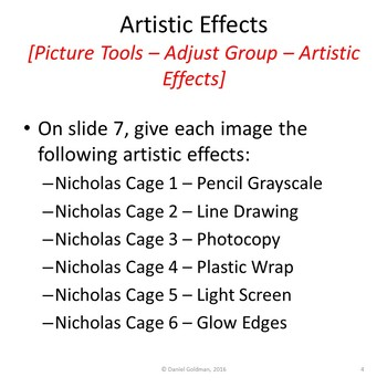 Microsoft PowerPoint Skills - Picture Corrections Lesson