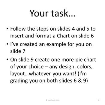 Microsoft PowerPoint Skills - Pie Charts Lesson