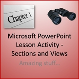 Sections and Views Lesson Activity for Teaching Microsoft PowerPoint Skills