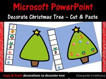 Microsoft PowerPoint Christmas Color Copy and Paste Activities - Computer Lab