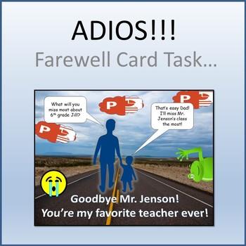 Microsoft PowerPoint - Farewell Card Activity