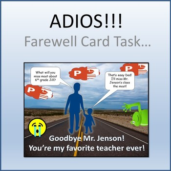 Farewell Card Activity for Teaching Microsoft PowerPoint Skills